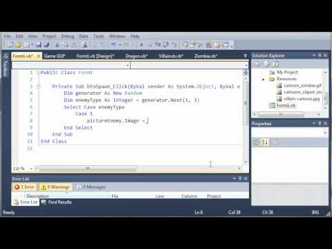Visual Basic Tutorial - 148 - Game Part 4   More On GUI
