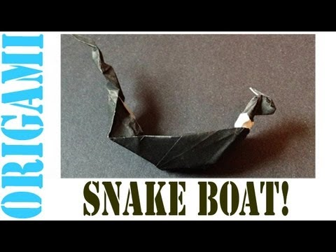 Origami Daily - 027: Snake Tailed Dragon Boat (By Suhas) - TCGames [HD]