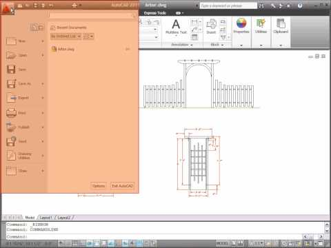 Preview the User Interface — AutoCAD 2011