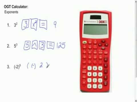 OGT Calculator Tutorial Video 3
