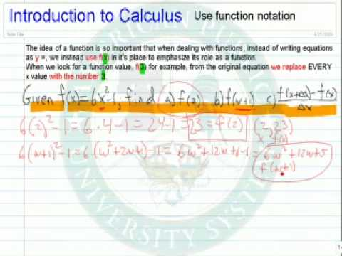Use Function Notation