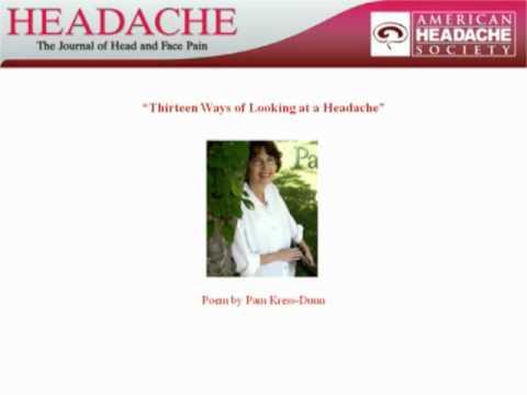Pam Kress-Dunn: Thirteen Ways of Looking at a Headache