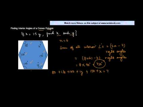 Problem on Sum of angle property of Convex Polygon