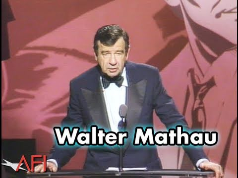 Walter Mathau Salutes Jack Lemmon at AFI Life Achievement Award