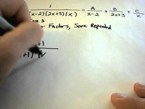 Partial Fraction Decompositions