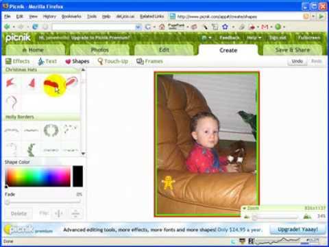 Picnik Photo Editor and the SMART Board