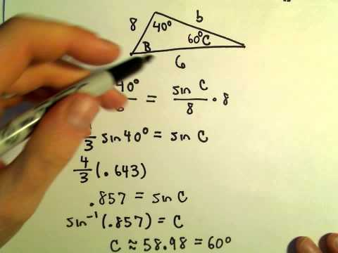 Side Angle Side for Triangles, Finding Missing Sides/Angles, Example 1