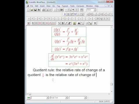 product and quotient rule recap