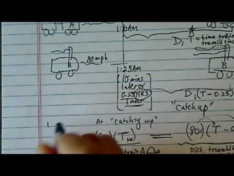 Word Problem (Distance/Time/Travel): Train A Traveling 60 MPH, Train B Traveling 80 MPH...