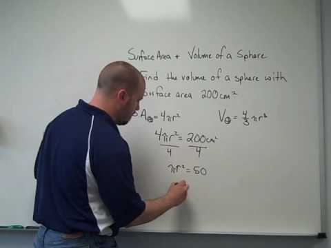 Surface Area and Volume of a Sphere