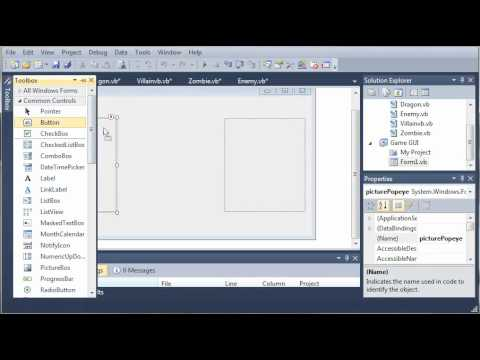 Visual Basic Tutorial - 147 - Game Part 3   Building The GUI