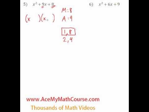 Polynomials - Factoring Trinomials #5-6
