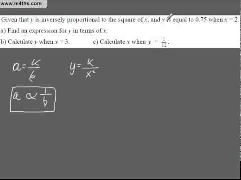 Q6 A Star GCSE Revision Exam Style Questions Inverse Proportion