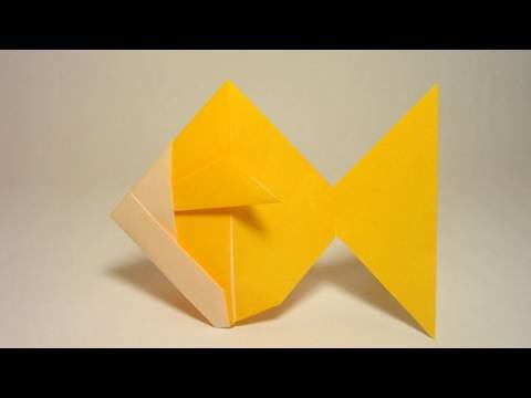 Simple Origami Goldfish