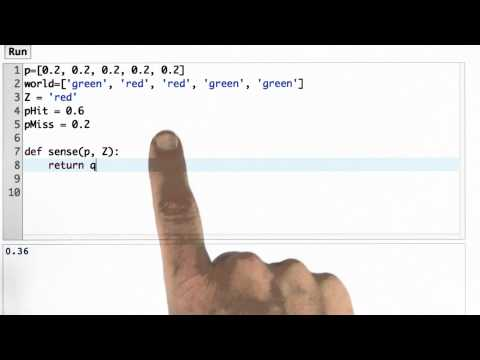 Sense Function - CS373 Unit 1 - Udacity