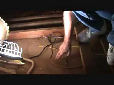 Walking around in an attic: be careful