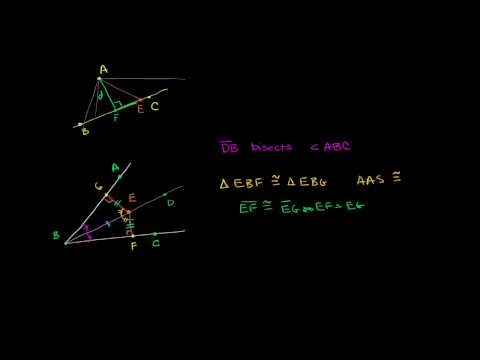 Point Line Distance and Angle Bisectors
