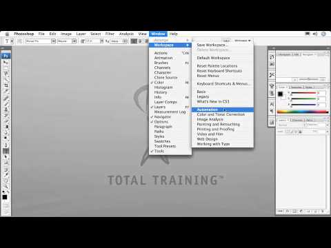 Total Training for Adobe Photoshop CS3: Essentials Ch2. L4. Customizing Your Workspace