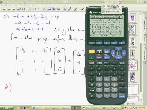 TI89 rref function to solve simultaneous equations