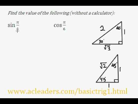 Trigonometric Ratios & Special Triangles - Question #1