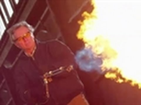 Penn & Teller Tell A Lie - Flamethrower vs. Aerogel