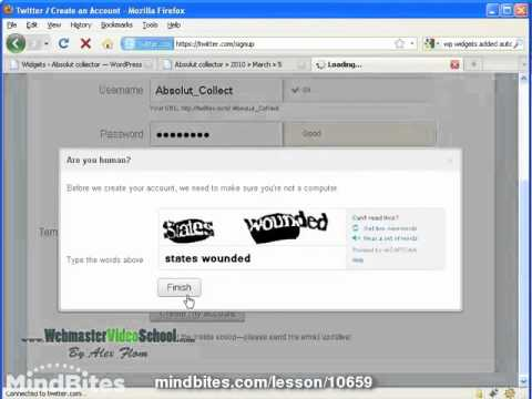Wordpress: 22. Linking our blog with twitter