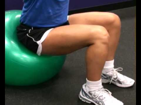 Proper Seated Position on Resistance Ball : BeYourTrainer.com