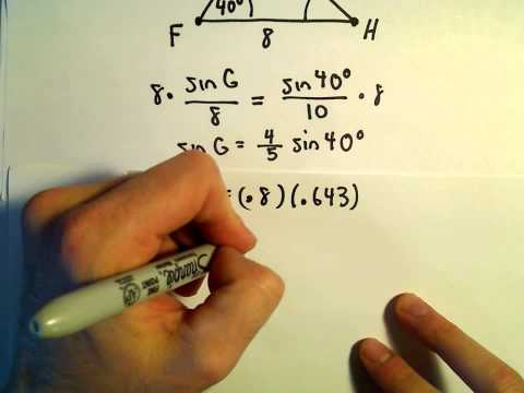 Solving a Triangle, SAS, Example 1