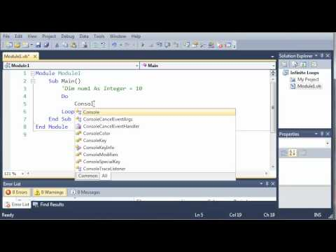 Visual Basic Tutorial - 35 - The Infinte Loop
