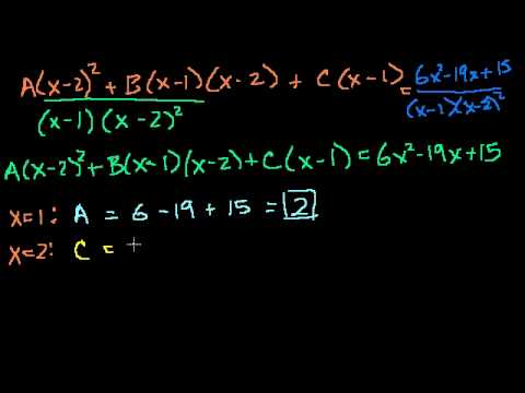 Partial Fraction Expansion 3