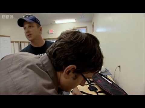 Picket sign-making - Louis Theroux - BBC