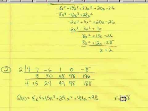 Polynomial Division 2