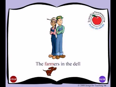 The Farmers in the Dell:  Animated Song for Kids