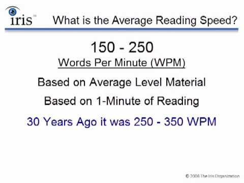 What is the Average Reading Speed
