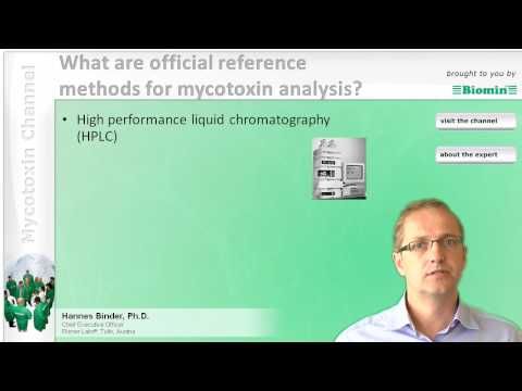 What are official reference methods for mycotoxin analysis?