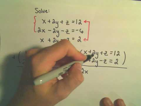 Solving a System of Equations Involving 3 Variables Using Elimination by Addition - Example 2