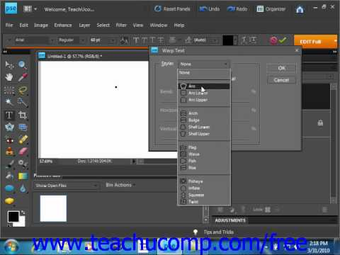 Photoshop Elements 9.0 Tutorial Entering Text Adobe Training Lesson 11.2
