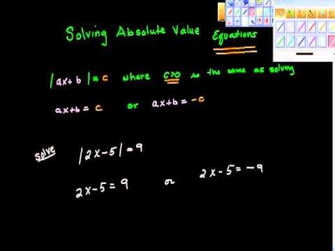 Solving Absolute Value Equation Algebra Precalculus