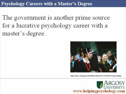 Psychology Careers with a Masters Degree