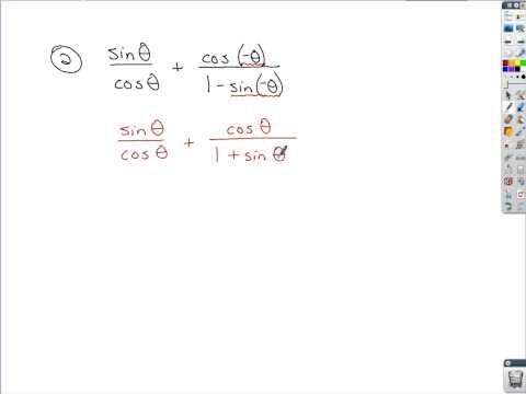 Trigonometry - Simplifying Trig Expressions