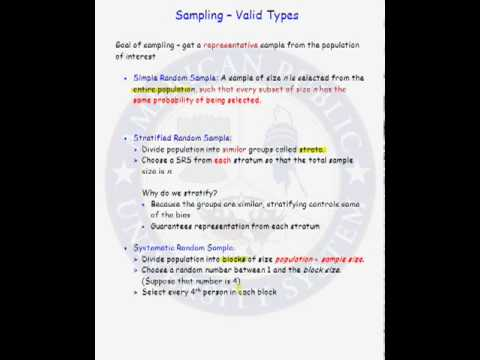 valid Types Sampling