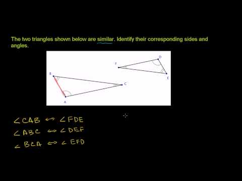 Similar Triangles Corresponding Sides and Angles