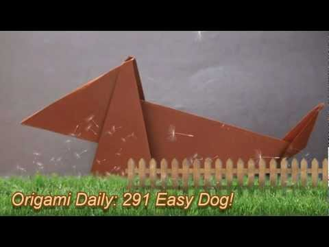 Origami Daily - 291: Easy Dog - TCGames [HD]