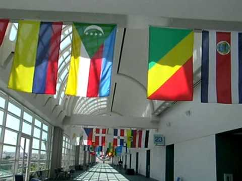 Walking Under Flags of Countries of the World, 2010 Esri User Conference