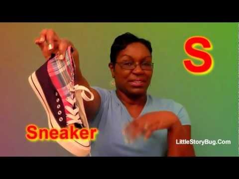 Preschool Activity - S is for Sneaker - Littlestorybug
