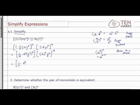 Simplify Expressions