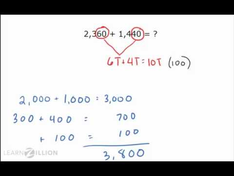 Solve addition problems using complements of 10 - 3.NBT.2