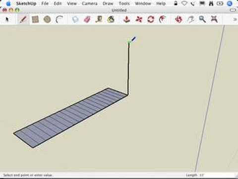 SketchUp: Making Stairs: The Subdivided Rectangles method