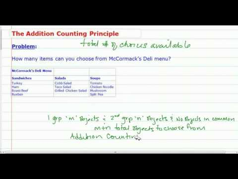 The Addition Counting Principle of Probability
