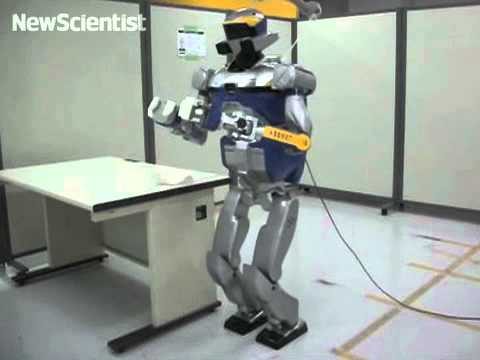 Robot moves like senior citizen